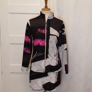 Jamie Sadock Golf Graphic Jacket and Skirt Set